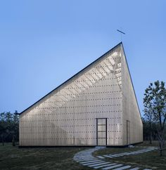 Cutting-edge religious architecture around the world | Architecture | Wallpaper* Magazine Nanjing Wanjing Garden Chapel, China by AZL Architects Completed in 2014  Completed in 2014, the structure looks bulky, but actually upon closer inspection, its sides - which are built in a wooden lattice pattern resembling rectangular-shaped chainmail - are light and dainty
