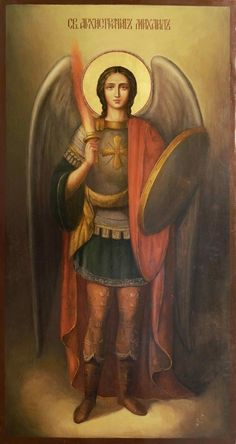 Catholic Art, Religious Art, Michael And Lucifer, Paint Icon, Pictures Of Jesus Christ, Jesus Christus, I Believe In Angels, Byzantine Icons, Saint Michel