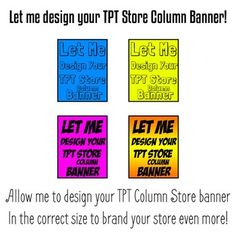 TPT Column Store Banner - Teachers Pay Teachers Column Store Banner Full DesignThis product includes the following:I will design a TPT Store Banner for your TPT Store. I will send you the correct size and format you need to just upload the image to your store and give it a more eye catching look when potential buyers are coming to your store!The Store Banner is at the top of your store and it is a great way to brand your store with a great looking graphic.