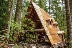 3 in NYC picture of A-frame cabin remodel by John Fitzgerald