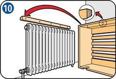 Radiatorombouw maken - Plaatsen radiatorombouw
