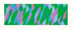 Bridget Riley, Passing By, Screenprint in colours, 2005. Signed in pencil and numbered from the edition of 75. Printed by Artizan Editions, Hove. Published by the artist.   (Schubert 60), 44.5 x 98.9 cm. © Bridget Riley 2014. All rights reserved, courtesy Karsten Schubert, London.