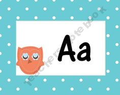 Pastel Owl Word Wall Cards
