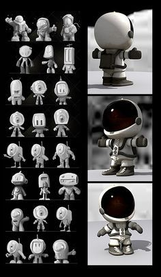 3D characters on Character Design Served