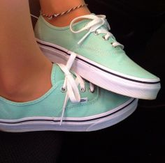 Mint green vans!! Perfect for summer!