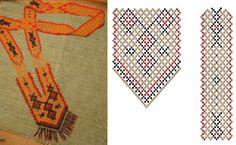 Гердан оранжевый и красный / Колье, бусы, ожерелья / Biserok.org