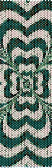 BPCL0002 Clover Even Count Single Drop Peyote Cuff/Bracelet Pattern