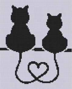 Cat Heart Cross Stitch Pattern by MotherBeeDesigns on Etsy Cat Heart Cross . - Cat Heart Cross Stitch Pattern by MotherBeeDesigns on Etsy Cat Heart Cross Stitch Pattern - Cat Cross Stitches, Cross Stitch Heart, Cross Stitch Animals, Cross Stitching, Cross Stitch Embroidery, Embroidery Patterns, Hand Embroidery, Cross Heart, Embroidery Dress