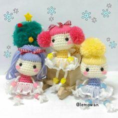 クロバー(株)さんの手作りレシピのコーナーにlemoデザインの「天使のあみぐるみ」が掲載されました! クリスマスまでにヒトガタあみぐるみ、チャレンジしてみませんか? Free recipe →http: //www.clover.co.jp/recipe/detail/post_646.html #amigurumi #doll #knit #kawaii #recipe #あみぐるみ