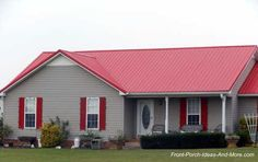 A Metal Porch Roof Adds Immediate Beauty And Value To Your Home