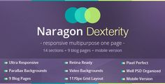 Naragon Dexterity - One page PSD template