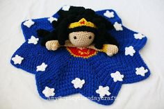 Top 10 geek baby crochet patterns: Wonder woman blanket