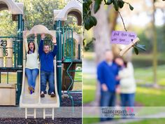 playground maternity photos, Maternity photography, park session, playground, trees www.tiffanyweaverphotography.com