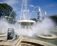 Image Detail for - Puerto Rico. Ponce. Degetau Plaza: fountain and cathedral