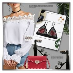 """""""White Top"""" by monmondefou ❤ liked on Polyvore featuring Valentino"""