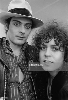 Percussionist Mickey Finn (1947 - 2003, left) and singer Marc Bolan (1947 - 1977) of British glam rock group T-Rex, 4th June 1973.
