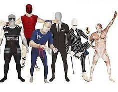 Official Genuine Morphsuit Funny Themed Pattern Halloween Fancy Dress Morph