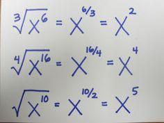 square root of negative one teach math: Fraction Exponents. - - square root of negative one teach math: Fraction Exponents. Infografik square root of negative one teach math: Fraction Exponents. Math Teacher, Math Classroom, Teaching Math, College Teaching, Math Formulas, Square Roots, School Study Tips, Math Help, Math Notebooks