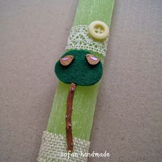 Palm Sunday, Easter Crafts, Projects To Try, Beaded Bracelets, Candles, Drop Earrings, Handmade, Easter Candle, Blog