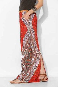 Boho-Print Maxi Skirt - Urban Outfitters