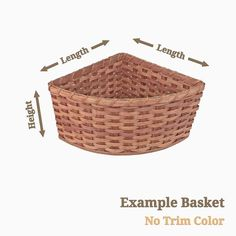 Now you can have a perfectly sized cornerbasket that will complement your rustic, western, primitive, or country decor in any room of your home or office.Desi