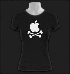 """Apple """"Skull and Crossbones"""" T Shirt"""