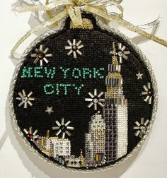 Stitched New York City Ornament by Kirk & Bradley