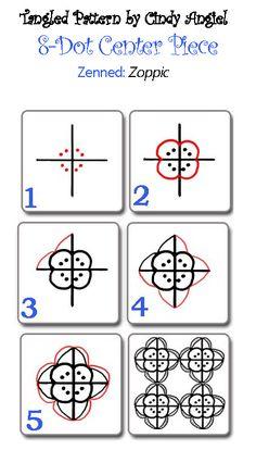 Zoppic - Zentangle design worksheet