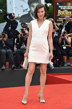Pin for Later: There's So Much Fashion Happening Off the Runway Too Milla Jovovich Milla Jovovich in Saint Laurent at the Cymbeline premiere during the 2014 Venice Film Festival.