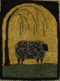 folk art hook rug