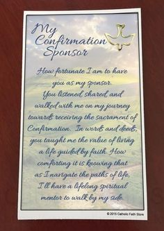 to celebrate the sacrament of confirmation and to thank your childs sponsor catholic faith store offers some very special confirmation gifts