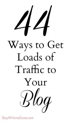 Brought to you by http://www.williamotoole.com How To Increase Traffic On Your Blog