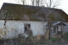Long abandoned 18/19th century brick farm house in the polish countryside...