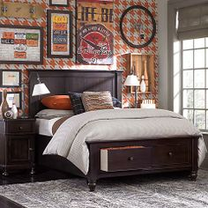 """From Grade School to College! It's the """"Wakefield"""" bed that """"grows"""" with your son!   Available from Twin size to King, with or without storage drawers in the front! Only at Bassett Furniture."""