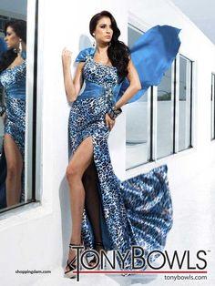 1804b124a30 Blue Sheath Column One Shoulder Natural Long Floor-length Sleeveless  Bow