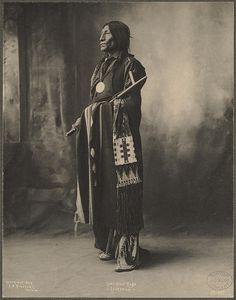 Full Figure Portrait of Chief Wolf Robe, Cheyenne by F.A. Rinehart, Omaha, Neb. (c. 1898).