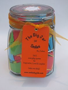 *PRIME DAY SALE* A Year of ★Success & Inspiration★ quotations in a jar. The Perfect Inspirational Gift for loved ones in your life especially for Birthdays, Graduation and other holidays - Good Luck Wishes for exams. Each jar contains 365 Multi-coloured Quotes - a month of motivational Thoughts and Sayings in a 900ml Kilner clip type glass jar to inspire loved ones to happiness & success. For friends, family and special people in your life.