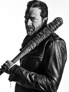 The Walking Dead Season 7 B&W Portrait - Negan