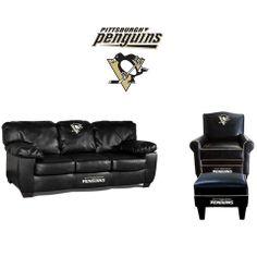 Pittsburgh Penguins Leather Furniture Set