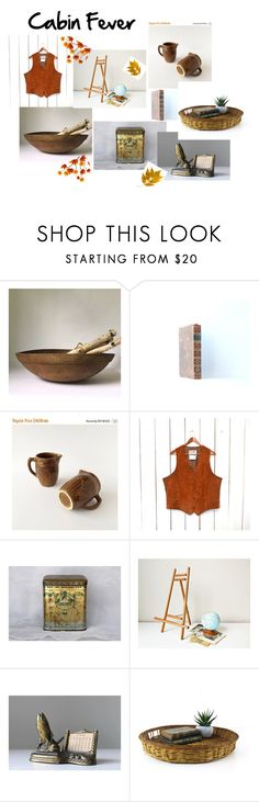 """""""Cabin Fever"""" by beejaykay ❤ liked on Polyvore featuring interior, interiors, interior design, home, home decor, interior decorating and vintage"""