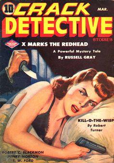Crack Detective Magazine by peterpulp on DeviantArt Pulp Fiction Book, Crime Fiction, Police Story, Pulp Magazine, Book Cover Art, Book Covers, Mystery Novels, Vintage Comics, Vintage Art