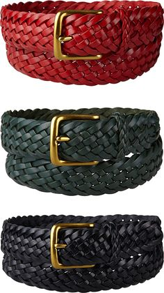 Supreme Braided Leather Belts