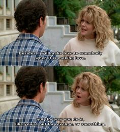 When Harry met Sally . My all-time favourite movie ! When Harry Met Sally, Movie Tv, Meg Ryan Movies, Color In Film, Funny Films, Favorite Movie Quotes, Bad Romance, Hair, Flims