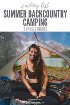 Summer Backcountry Camping Packing List — Andrea Ference