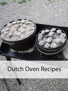 Dutch Oven Recipes - Several Yummy Recipes for Summer Fun --- Should be great for camping! We love using our cast iron when were camping.