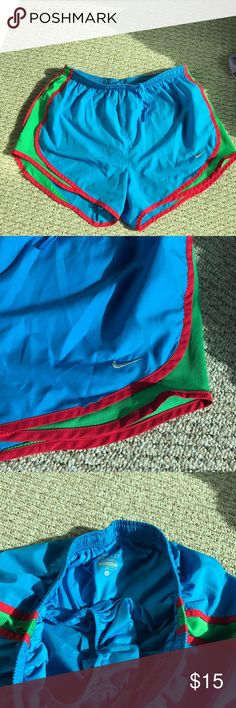 Nike running shorts Nike dri fit. Very cute color ❤️Good condition, one thread out shown in the last picture. Any questions please ask, open to offers Nike Shorts