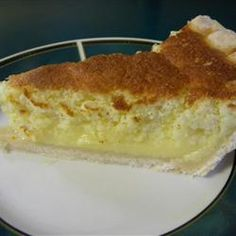Lemon Sponge Pie I - My grandma used to make this. My favorite lemon pie!! The filling is like pudding. So easy to make.