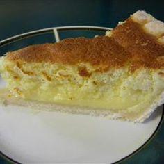 Lemon Sponge Pie I - My grandma used to make this. My favorite lemon pie!! The filling is like pudding. So easy to make.