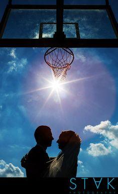 Debra + Denby's #Wedding with a touch of a basketball theme! www.getstak.com