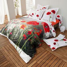 Coquelicot - Linge de lit fleuri rouge
